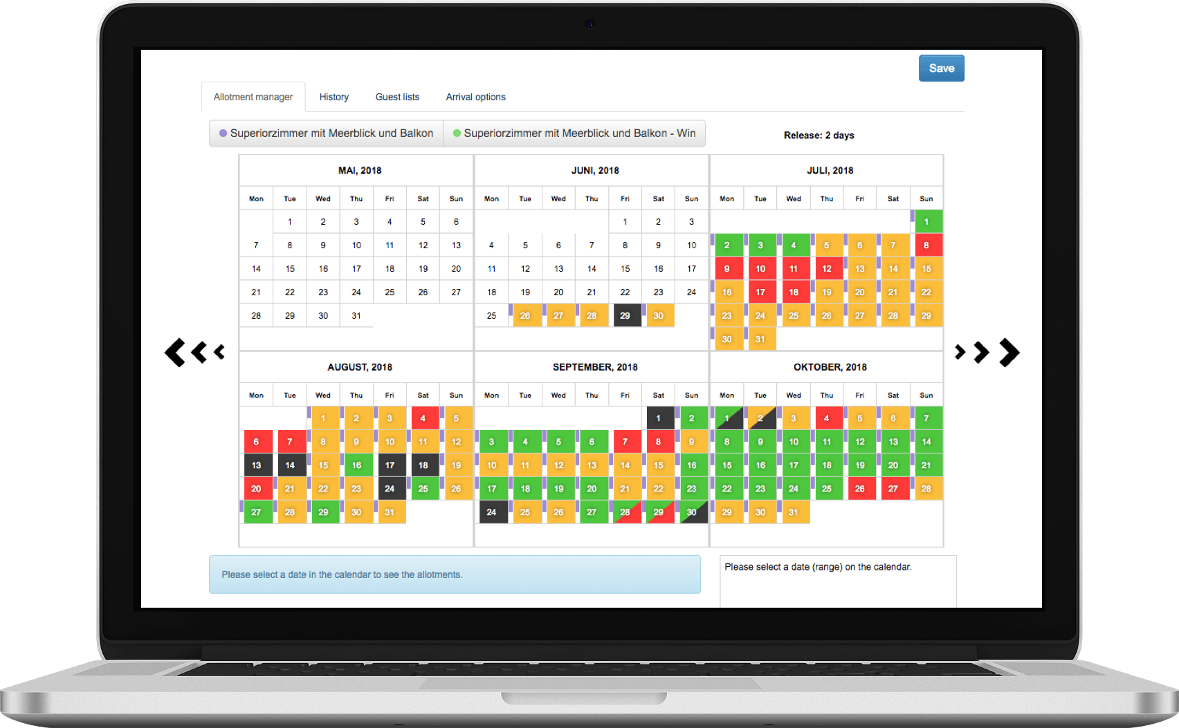 laptop with a calender on it